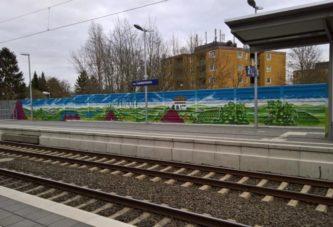 Laubenheimer Bahnhof mit Grafitti-Kunst