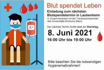 Blutspende Laubenheim 8.06.2021